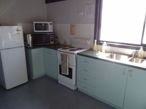 fridge, stove and oven